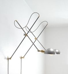 ADJUSTABLE ARTICULATING BRASS STEEL WALL LIGHT BOOM LAMP SCONCE VINTAGE STYLE 1