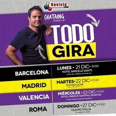 Ya tienes tu entradas para #TodoGira de @LuisChataing en Barcelona Madrid Valencia y Roma? No te pierdas este show único. #VenezolanosEnEspaña #VenezolanosEnItalia #VenezolanosEnMadrid #VenezolanosEnBarcelona #VenezolanosEnValencia #VenezolanosEnRoma #Fun