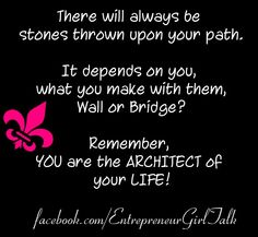 Wall or Bridge Inspiration for Women in Business