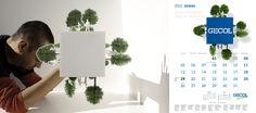 Maquetas para ilustración destinadas a página web y calendario (making off) / Cliente: Gecol / 2012