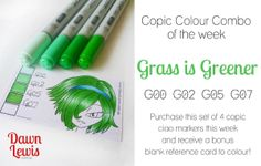 Copic Colour Combo of the week Grass is Greener