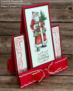 Father Christmas Centre Step card