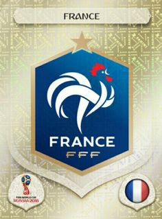 France 2018 World Cup Finals card. France Fifa, France Rugby, England World Cup 2018, World Cup Russia 2018, Football Stickers, Football Cards, Champion Du Monde Foot, America Album, Mens World Cup