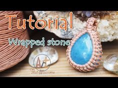 How to wrap a stone cabochon pendant with macrame technique/ easy tutorial - YouTube