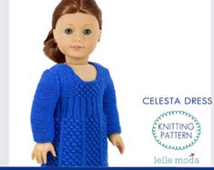 Doll Clothes Knitting Pattern Cardigan Pattern for 18 von LelleModa