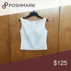 Akris Top Cream, sleeveless top Akris Tops Tank Tops