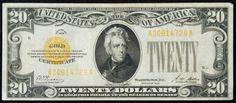 Lot 4: 1928 $20 Gold Certificate VF;