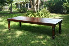 Lovely old Country Sheraton Pine Harvest Table 19th century.