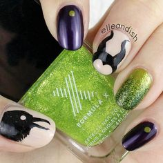 Instagram media by elleandish -Maleficent #nail #nails #nailart