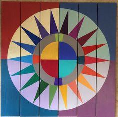 Color Burst Barn Quilt