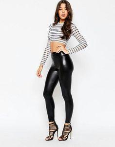 daeb6a131deb3f Wet Look Leggings, Shiny Leggings, Leather Leggings, Black Leggings, Black  Pants,