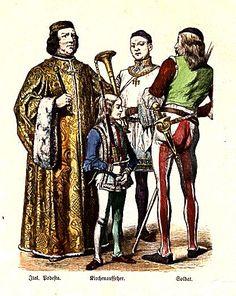 Fifteenth Century - Italy  Italian Podesta - Chief Magistrate, Sexton, Soldier