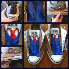 Tenth Doctor, Doctor Who Shoes by RaveGates...Doctor Who .. :)... http://www.pinterest.com/cwsf2010/doctor-wh