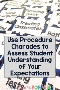 Ready for back to school?  Use procedure charades to assess student understanding of your classroom management expectations