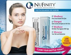NuFinity EyeSerum works to reduce the deep wrinkles, dark spots, and eye bags. The effectiveness of this skin care solution has already been proven. This is claimed fact because many people are already trusting this particular brand. #Skin #Beauty #Aging