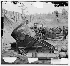 Battery No. 4 near Yorktown Virginia. 13-inch mortars, each...