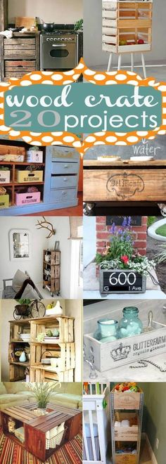 20 Wood Crate Project Ideas from Too Much Time on My Hands