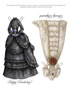 Beatrice Halloween Paper Doll by Shawna JC Tenney, via Behance
