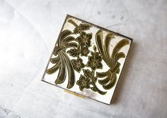 Vintage Compact Metal Case - Zell Fifth Avenue by ReneeVintage on Etsy