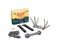 Pedal away with the Bicycle Puncture Repair Kit from Gentleman's Hardware. A life-saving addition to any cyclists tools! Featuring a bone wrench, metal rasp, multi-function bicycle tool, 6 x self-adhesive patches in 2 sizes, 2 plastic ty Stocking Fillers For Him, Christmas Stocking Fillers, Bicycle Tools, Wild Wolf, Tin Gifts, Bike Chain, Stylus, Adhesive, Gentleman