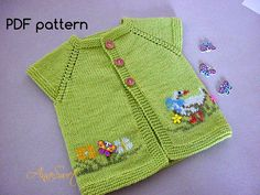 Baby knitting patterns.Knitted baby cardiganpattern PDF.Knit