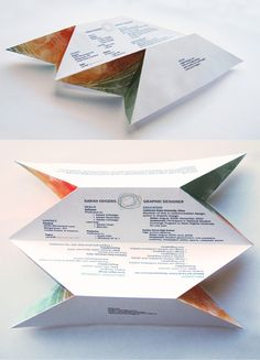 hahaha origami Resume? This totally makes me wish I worked in graphic design