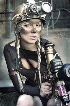 Steampunk miner. Love the smug on the face.