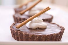 Spicy #Vegan Mexican Chocolate Tartlets with Vanilla Bean Whipped Cream