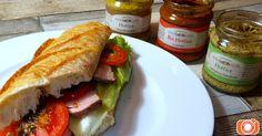 Obložená bageta s pořádnou hořčicí - rajčatová, petrželová nebo hrubozrnná Sandwiches, Food, Essen, Meals, Paninis, Yemek, Eten