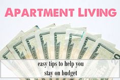 Apartment Living: living on a budget, easy tips to help you save money and stay on budget from Label Me Merrit