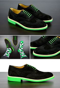 27282bfc059f Black   Green Suede Brogues. Men s WardrobeFashion ShoesMens ...