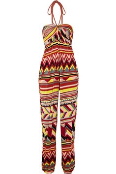 Printed jersey jumpsuit by M Missoni