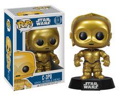 Cabezón Star Wars. C-3PO, Funko POP SW, 9cm. Funko