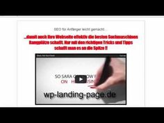 Landing Page Theme Vorstellung - YouTube