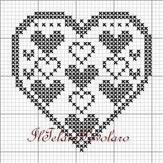 Crochet Patterns Filet, Doily Patterns, Embroidery Patterns, Crochet Flower Patterns, Cross Stitch Heart, Cross Stitch Alphabet, Cross Stitch Embroidery, Cross Stitch Designs, Cross Stitch Patterns