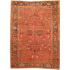 Shop for Herat Oriental Persian Hand-knotted 1920s Semi-antique Tribal Heriz Wool Rug (7'3 x 10'). Get free delivery at Overstock.com - Your Online Area Rugs Shop! Get 5% in rewards with Club O!