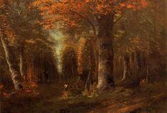 """Gustave Courbet, """"La foresta in autunno"""" (1841)"""