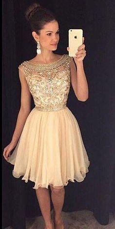 knee Length Homecoming Dresses,elegant homecoming dresses, women' homecoming…