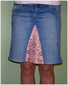 Sugar & Spice in the land of Balls & Sticks: How to turn Jeans into a Skirt