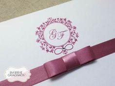 Convite Rosê Clássico, convite de casamento rose, convite chique