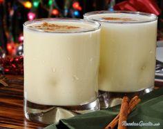Ponche de huevo navideño #Navidad #RecetasparaNavidad #RecetasNavideñas…
