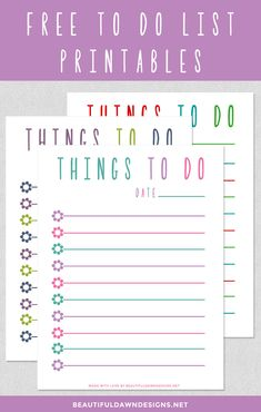 8 best to do lists printable images on pinterest organizers free