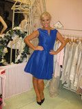 Amazing structured dress in beautiful royal blue in satin finish with cut out neck detail, fitted waist and full circle skirt. Structured Dress, Full Skirt Dress, Full Circle Skirts, Perfect Wardrobe, Blue Satin, Satin Finish, Royal Blue, Friday, Detail