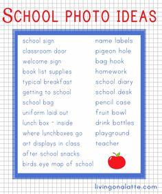 Project Life School album - photo ideas