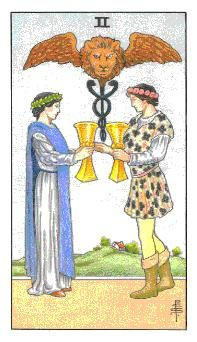 Learn how to read tarot cards and the two of cups Card in the minor arcana of the Rider waite deck of Tarot cards from Amanda Goldson, who is a uk based Tarot Coach and Author and has over 16 years experience of reading and teaching tarot cards Celtic Cross Tarot, Tarot Gratis, Free Tarot Reading, Rider Waite Tarot, Online Tarot, Daily Tarot, Tarot Learning, Tarot Card Meanings, Tarot Readers