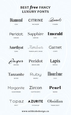 Best Free Luxury Fonts