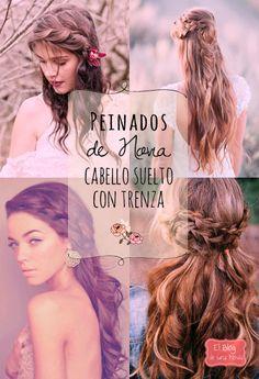 17 Peinados de Novia: Cabello suelto con Trenza   El Blog de una Novia