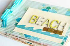 beach minibook with the pier by deb duty