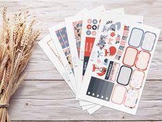 Planner Stickers | Weekly Kit - Summer Foxes | Erin Condren Vertical
