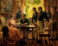 Sessão do Conselho de Estado que Decidiu a Independência,  de Georgina de Albuquerque (1922) [Museu Histórico Nacional - Rio de Janeiro]